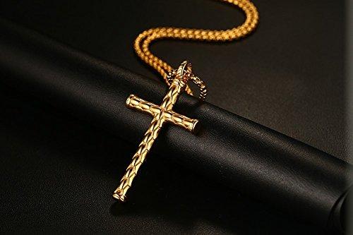 bonbonne bijoux collier pendentif croix religieuse punk rock cha ne acier inoxydable fantaisie. Black Bedroom Furniture Sets. Home Design Ideas