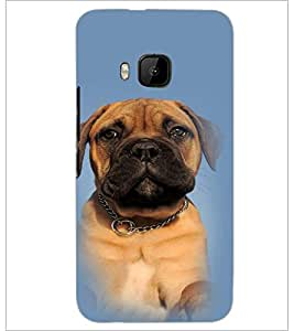 PrintDhaba Cute Dog D-4913 Back Case Cover for HTC ONE M9S (Multi-Coloured)