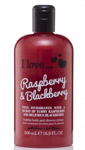 I Love... Raspberry & Blackberry Bubble Bath And Shower Creme 500ml 500 Ml Bath