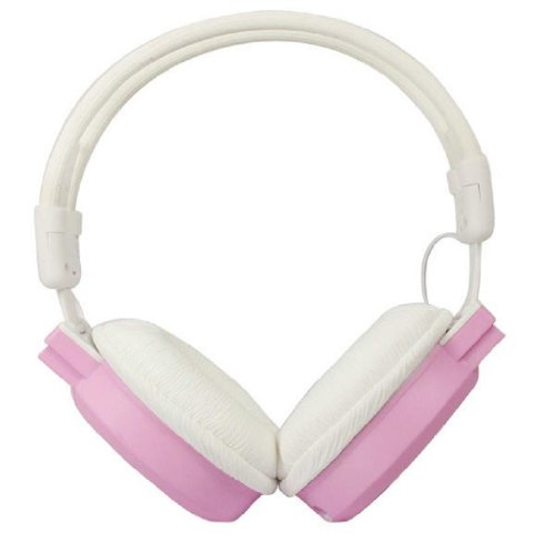 Towallmark 1Pc Pink Portable Foldable Wireless Headphone Headset