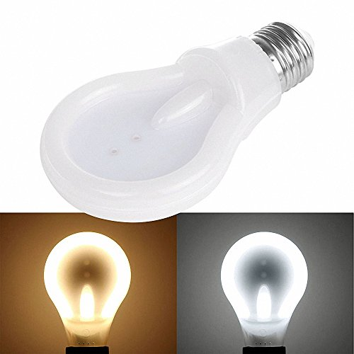 DDSKY E27 6W 9W 12W LED Flat Bulbs Extra Light Energy Saving 90% Led Light Bulb Warm Cool White, Dimmable (12W, Warm Light) (9w Led Bulb compare prices)