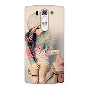 Cute Winter Doll Multicolor Back Case Cover for LG G3 Beat