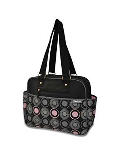 Gerber Black/Pink Dot Diaper Bag