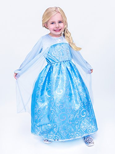 Ice Princess Dress Blue Queen Gown Dress-up