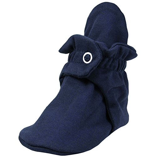 Zutano Cotton Booties Unisex For Baby Boys or Baby Girls – Navy – 12 Months