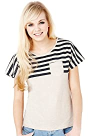 Angel Pure Cotton Short Sleeve Striped T-Shirt