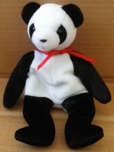 TY Beanie Babies Fortune Panda Bear Plush Toy Stuffed Animal - 1