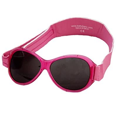 Baby Banz Infant Retro Sunglass, Flamingo Pink, 0-24 Months