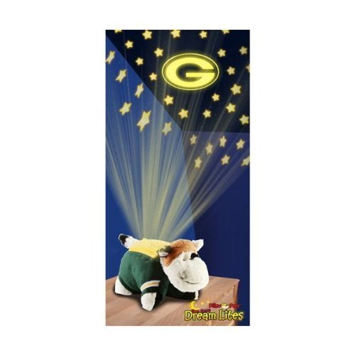 NFL Football GreenBay Packers Sport Pillow Pets Dream Lites Toy Gift by Fabrique Innovations