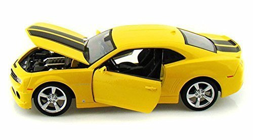 2010 Chevrolet Camaro SS RS, Yellow w/ Black Stripes - Maisto 31207 - 1/24 scale diecast model car (Yellow Camaro Bumblebee compare prices)