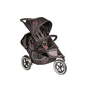 Phil Teds Classic Stroller with Double Kit (Black)