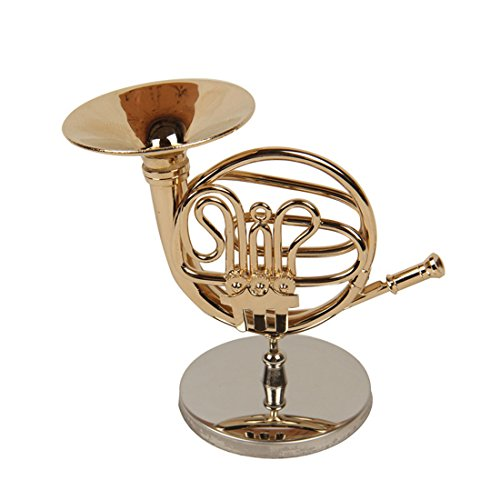 Mini-Musical-Instrument-Model-French-Horn-Toys-4in-Decoration-Crafts-Leather-Box-Gift