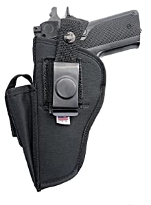 OB-19SC (LEFT) Nylon OWB Belt Gun Holster with Mag Pouch for Beretta