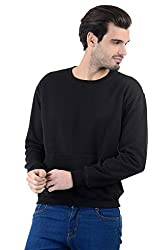 Enquotism Solid Round Neck Cotton Pullover with side Pockets