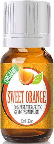 Sweet Orange (Organic) 100% Pure, Best Therapeutic Grade Essential Oil - 10Ml
