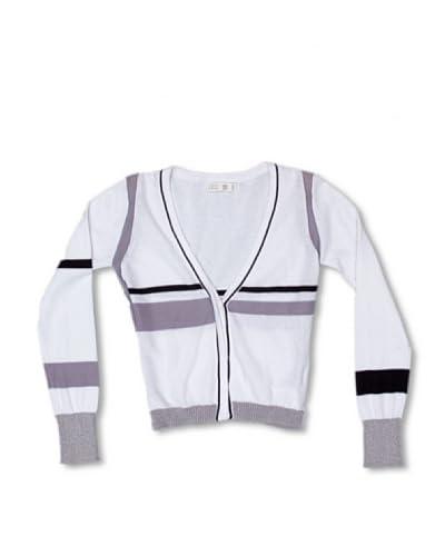 CKS Cardigan De Punto [Bianco/Grigio]