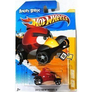 Angry Birds Red Bird Hot Wheels (Born in El Segundo Ca.usa) Red Bird 1:64 Scale Collectible Die Cast Car