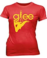 Glee TV Show Logo Join the Club Red Juniors/Ladies T-shirt Tee