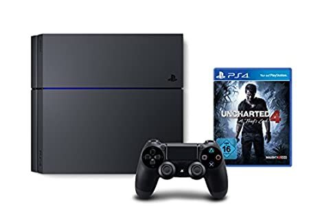 PlayStation 4 - Konsole (1TB) + Uncharted 4: A Thief's End [CUH-1216B]