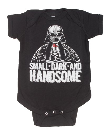 Star Wars Small Dark And Handsome Vader Baby Snapsuit Bodysuit one piece Snapsuit