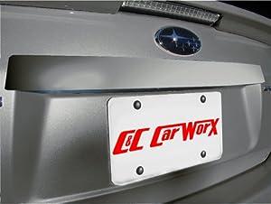 C&C Car Worx Rear Body Panel STI-Style Tape-on Rear Trim painted to match C6Z Steel Silver Metallic for 2008, 2009, 2010 Subaru Impreza 4-door Sedan