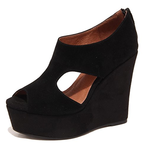 6807P sandalo zeppa JEFFREY CAMPBELL KNUTE nero scarpa donna shoe woman [39]