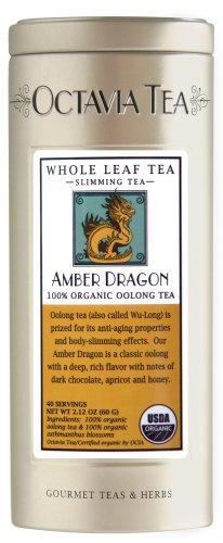 Octavia Tea Amber Dragon (Organic Oolong Tea) Loose Tea, 1.52-Ounce Tins (Pack of 2)