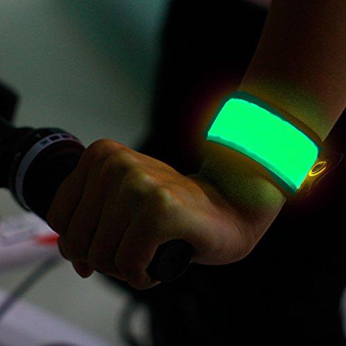 LED Safety Slap Armband Cycling Jogging Walking Reflective LED Armband (yellow Green)