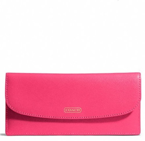 Coach   Coach Darcy Leather Soft Wallet Pomagranate