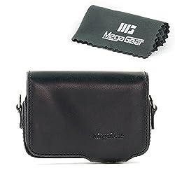 MegaGear Protective Leather Black Camera Case, For Sony DSC-RX100M II, Sony DSC-RX100M III Cyber-shot