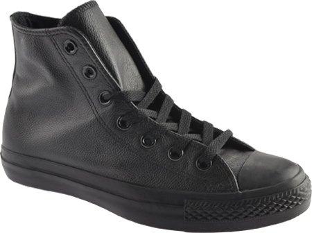 CONVERSE Unisex Chuck Taylor Leather High Top Sneaker (Black Monochrome 4.5 M)