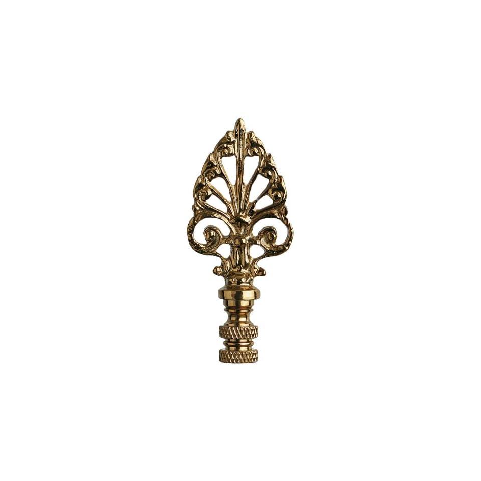American Pride Lampshade Co. FN32 AB74, Decorative Finial, Antique Brass Ornate Arrow Head