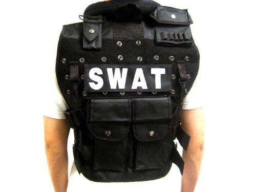 Tactical Vest with 6 Magazine Pouches BB Bullet Proof