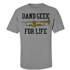 Band Geek For Life : Port & Company Unisex Basic Essential Tee