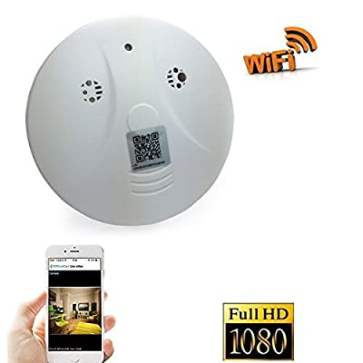 Dreamclub WiFi Hidden Camera Smoke Detector Nanny Spy Cam With 90° Wide View Angle and Motion Detection for Home Security & Surveillance Free Apps for iOS Android, PC and Mac (a Free 8G Micro SD Card) by WJAM