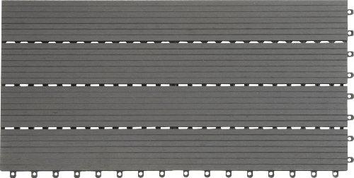EVERFLOOR-WPC-BambusholzKunststoff-Terrassenfliesen-Bodenfliese-6-er-Set-108-m-60-x-30-cm-dunkelgrau-leicht-verlegbar-wetterfest