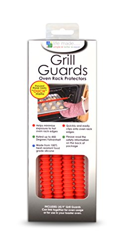 Life Made LOVGD02-R/RD Interlocking Oven Rack Guards, 9-Inch, Red, 4-Pack