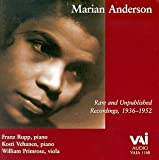 echange, troc  - Marian Anderson - Rare and Unpublished Recordings,  1936-1952