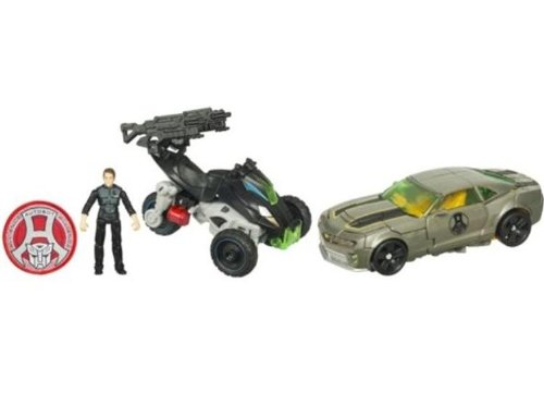Transformers - 32109 - EXCLUSIVE - Dark of The Moon - MechTech Human Alliance - Autobot Daredevil Squad - Bumblebee, Sam Witwicky und Backfire - mit Autobot Alliance Patch