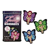 Accoutrements Fairy Adhesive Bandages in Tin Box with Free Toy Inside