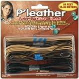 Pepperell Braiding P'leather Cord Variety Pack 54 Feet/Pkg: Black/Brown/Beige