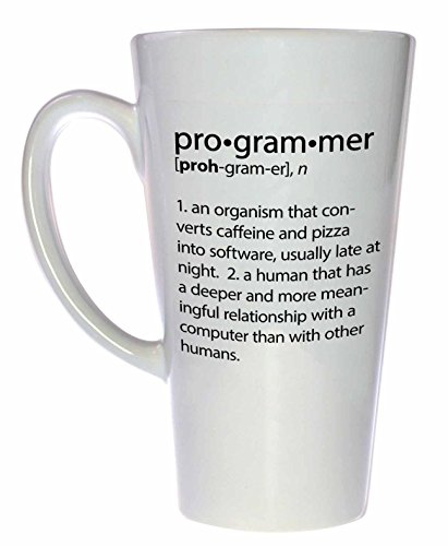 Funny Programmer Definition Tall Latte Coffee or Tea Mug