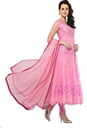 A.V.Fashion Anarkali Dress Materials (1621_Pink)