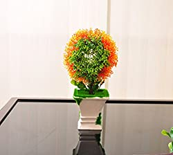 Tiedribbons Artificial Flowers with Vase for living Room