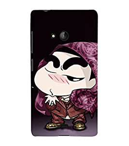 EPICCASE Cool Shin chan Mobile Back Case Cover For Nokia Lumia 540 (Designer Case)