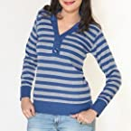 Striped Full Sleeve T Shirt | Color Red | Sizes M
