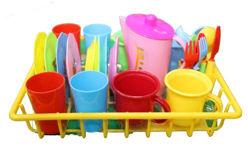 My First Play Dishes With Drainer-28 Piece Set front-622268