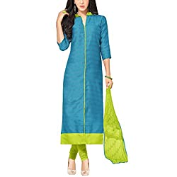 Applecreation Blue Banglory Silk Salwar Kameez