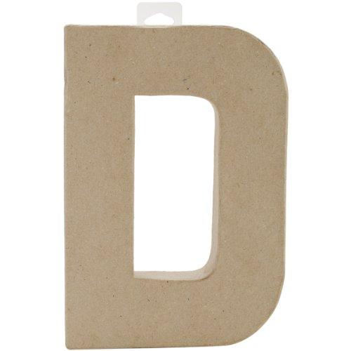 """Paper Mache Letter 8""""X5-1/2""""-Letter D"""