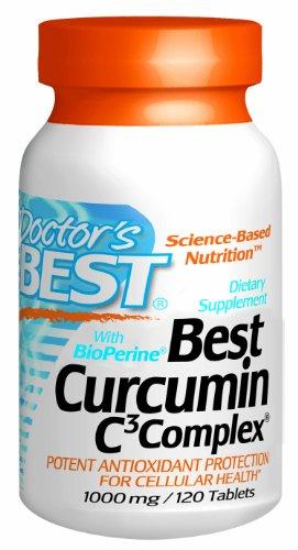 Doctor's BEST Curcumin C3 Complex with Bioperine 姜黄素胶囊 1000mg*120粒 $42.14(约¥320)